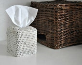 Modern Square Tissue Box Cover Nursery Decoration Rustic Home Decor Log Cabin Kleenex Box Cover Oatmeal
