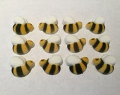 Bumble Bee Sugar Layons, Edible Bees, Cake Decorating Supplies, Cupcake Topper, Sugar Cubes, Baby Shower, Wedding, Tea Party, Gender Reveal