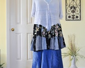 Upcycle loose sheer light plus size sweater cropped asymmetrical romantic clothing lagenlook mori girl layers beach boho chic Eco fashion