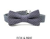 Engineer Stripe Kids Bow Tie