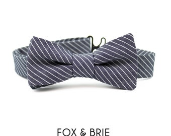 Engineer Stripe Kids Bow Tie