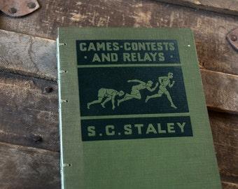 1928 GAMES & RELAYS Vintage Notebook