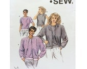 Vintage 80's Kwik Sew 1641 Sewing Pattern Misses Cardigan Pattern, Misses Top Pattern, 80's Fashion, DIY Cardigan, DIY Fashion, 80's Pattern