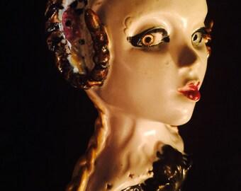 "MATURE..""Aries Ram-not-Lamb"" ooak handmade ceramic stoneware clay DiLdoLL dildo"