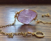 Amethyst pendant necklace, February birthstone jewelry