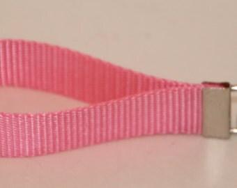 Key Fob, Key Wristlet, Bright Pink Key Chain