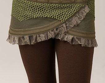 Funky Wrap Around Pixie Skirt - burning man - women clothing