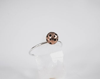Bronze moon ring - To The Moon And Back