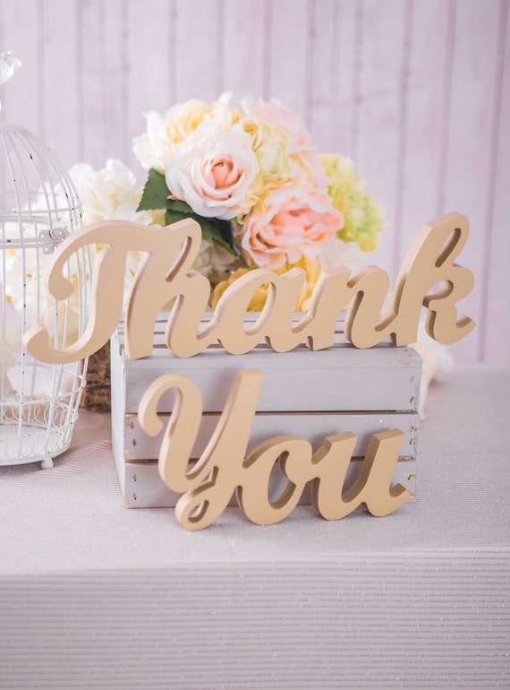 Thank You Wedding Sign For Wedding Table Decor By
