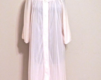 SALE vintage pink bed jacket - 1940s-50s Violet pink sheer lingerie robe