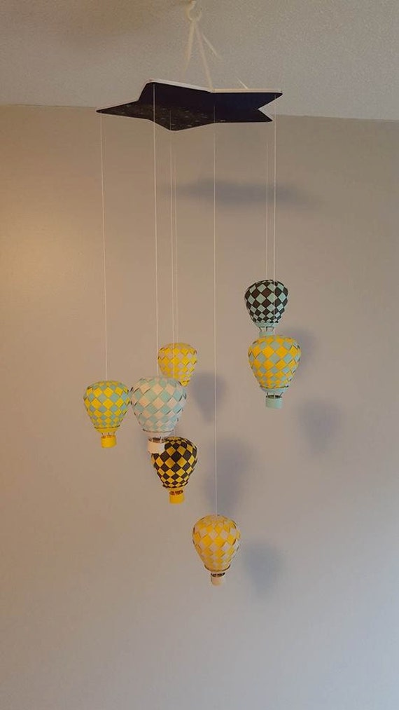 Woven Paper Hot Air Balloon Mobile Summer By