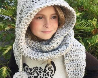 Hooded Scarf Crochet Pattern, Scarf Crochet Pattern, Hooded Neck Warmer Crochet Pattern, Crochet Patterns, Girls Crochet Patterns, Women