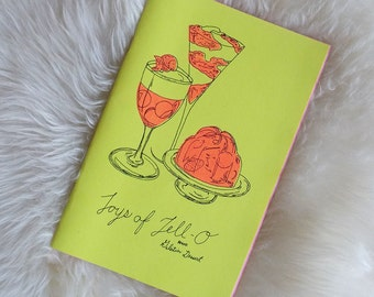 Joys of Jello Zine - Risograph Printed Vintage Food Drawings and Illustrations