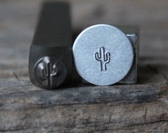 Cactus Stamp-5mm Size-Steel Stamp-New Metal Design Stamps-by Metal Supply Chick-DCH69