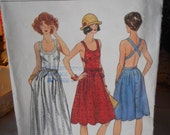 Vintage Vogue Sundress Overall c1970s size 8 sewing pattern