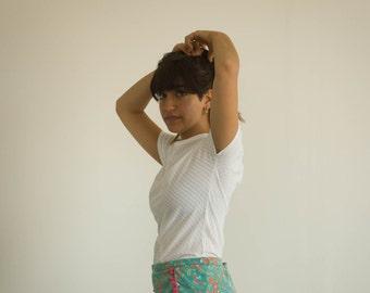 Directional Shirt, white cotton