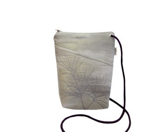 Quilted Cross Body Bag - Misty Morning - Cross Body Bag - Gray