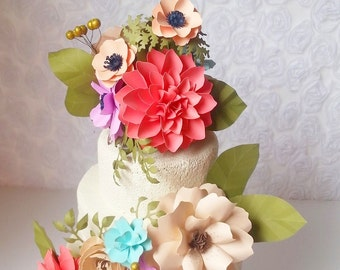 Cake Topper Set - made to match your style and color scheme