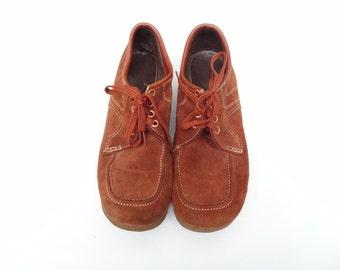 Men's Brown Suede Shoes size 9.5