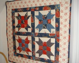 Hand Made Quilted Mini Weathervane Wallhanging or Table Topper