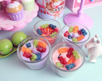 Pastel Gummy Bear Frosting Candles