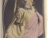 Gabrielle Robinne, Queen of French Theater, Bookmark Sized Postcard, Leopold Reutlinger, circa 1905