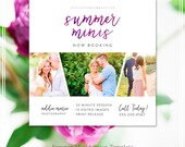 Summer Mini Sessions Template - Photography Template - Marketing Boards