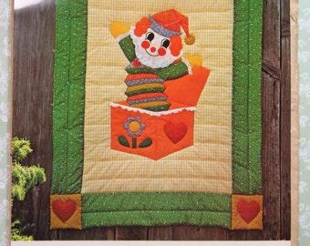 Jack in the Box Applique Quilt Pattern UNCUT Vintage 1970's The Gingham Goose Pattern GGP004
