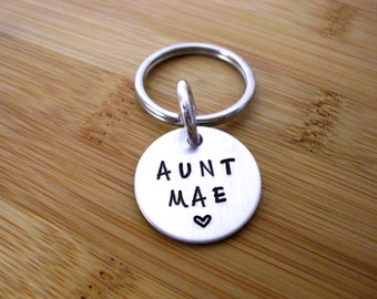 FLASH SALE TODAY Aunt Keychain - Aunt Jewelry - Personalized Keychain for Aunt - Aunt Gift - Gift for Aunt - Relative Gift - Family Keychain
