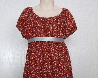 Girls Regency dress, Regency style dress,Peasant style dress Size 7/8 Ready to Ship