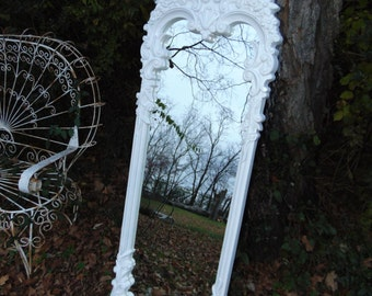 ORNATE Mirror, Dressing Mirror, White Mirror ,Long, Leaner, Size 61 x 20, Or Choose Color