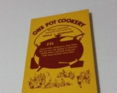 One Pot Cookery vintage cookbook by Eidola J Bourgaize from 1953