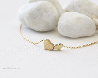 Hearts Necklace in Silver/ Gold. Love. Valentine's Gift. Anniversary. Sweet. Everyday Wear. Gift For Her (PNL-87)