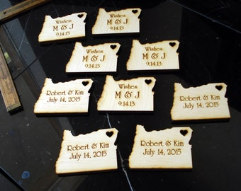 60 Oregon Wedding Favors Custom Engraved