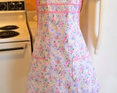 Vintage Style Full Apron in Spring Colors