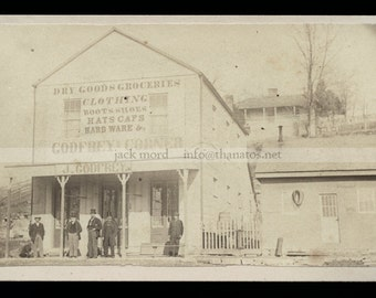 CDV Photo Fall River Massachusetts (Home of Lizzie Borden) Storefront Street View