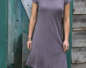 Sunday Kaftan Dress-Above Knee Length-Organic Hemp and Cotton