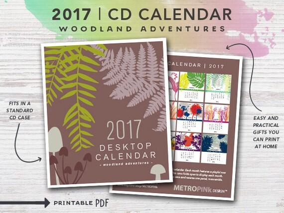 2017 PRINTABLE CD Case Calendar - Woodland Adventures