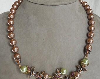 Heidi Daus VINE AND DIVINE Beaded Crystal Drop Necklace & Earrings Set