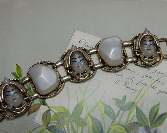 SELRO SELINI Moonglow Asian Princess Cabochon Bracelet