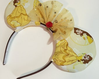 Classic Belle Mouse Ears with Bow - Mad Ears - MADE TO ORDER