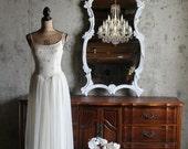 B A R O Q U E, White Mirror Shabby Chic Salon French Cottage