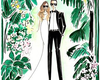 Custom Wedding Portrait + background , Custom Couple Portrait , Portraiture, Custom portrait, Wedding Portrait, Couple Portrait