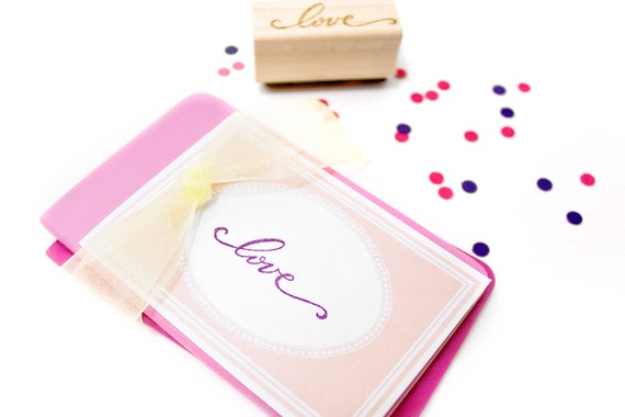 Love Calligraphy Stamp