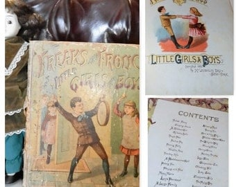 RARE Antique 1887~Freaks and Frolics of Little Girls and Boys~published in 1887 by McLoughlin Brothers, New York, New York.