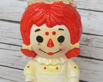 Raggedy Ann Novelty Pin Cushion Vintage Repurposed