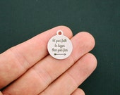 Faith Stainless Steel Charms - Let Your Faith Be Bigger Than Your Fear - Exclusive Line - Quantity Options - BFS1397