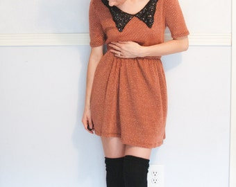perfect fall holiday dress, collared and with a little sparkle, small