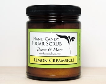 Sugar Scrub - Lemon Creamsicle Hand Candy Sugar Scrub - Lemon Scrub