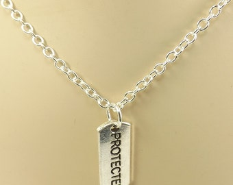 Bdsm Necklace with Protected Charm mature Submissive Jewelry